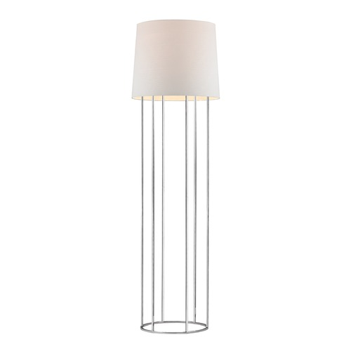Dimond Lighting Dimond Lighting Chrome Floor Lamp with Drum Shade D2590