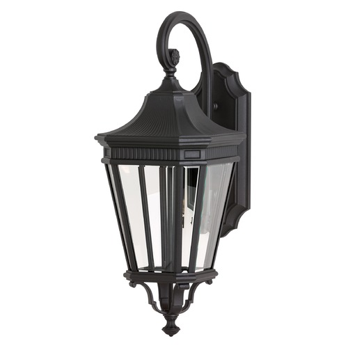 Feiss Lighting Feiss Lighting Cotswold Lane Black LED Outdoor Wall Light OL5402BK-LED