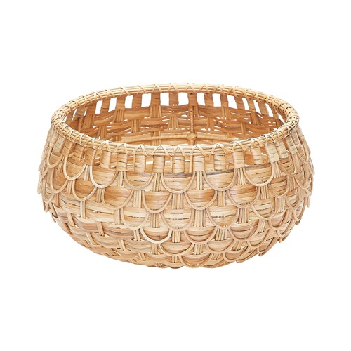 Dimond Home Small Natural Fish Scale Basket 466045