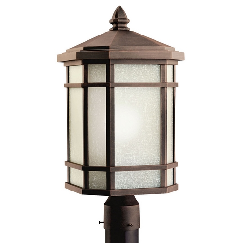 Kichler Lighting Kichler Post Light with White Glass in Prairie Rock Finish 11020PR