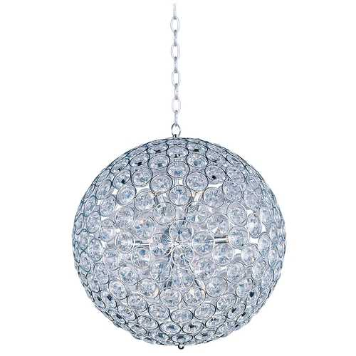 ET2 Lighting Modern Pendant Light in Polished Chrome Finish E24017-20PC