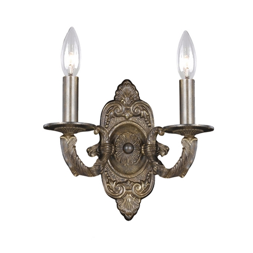 Crystorama Lighting Sconce Wall Light in Venetian Bronze Finish 5122-VB