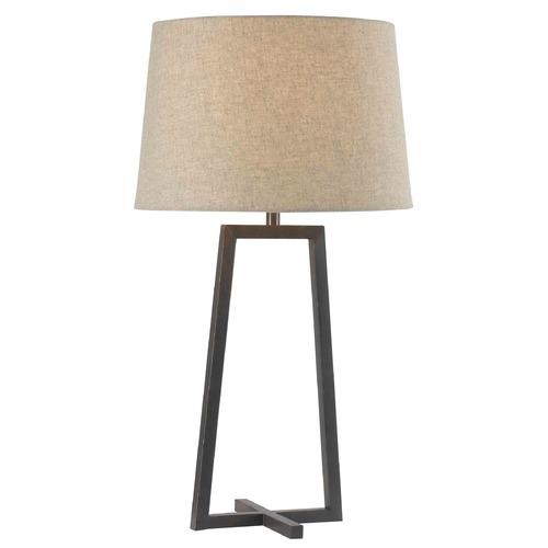 Kenroy Home Lighting Table Lamp with Beige / Cream Shade in Oil Rubbed Bronze Finish 32150ORB
