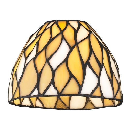 Design Classics Lighting Dome Tiffany Yellow Glass Shade - 1-5/8-inch fitter GL1036