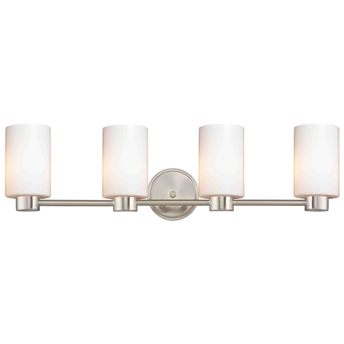 Design Classics Lighting Lighting Aon Fuse Satin Nickel Bathroom Light 1804-09 GL1024C