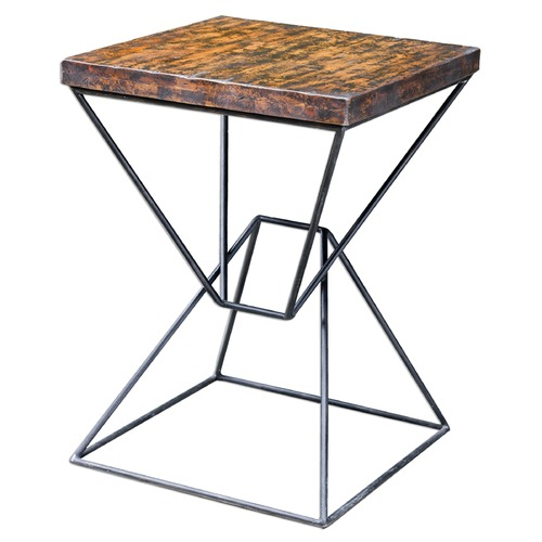 Uttermost Lighting Uttermost Weathered Black Accent Table 25700
