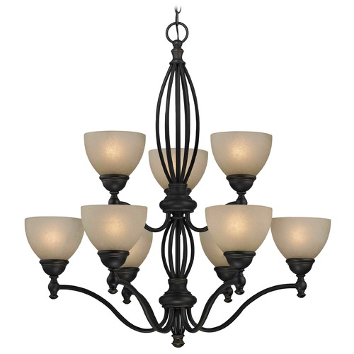 Design Classics Lighting Carmelized Glass Traditional Chandelier - Bolivian Finish 2922-78 GL1033-CAR