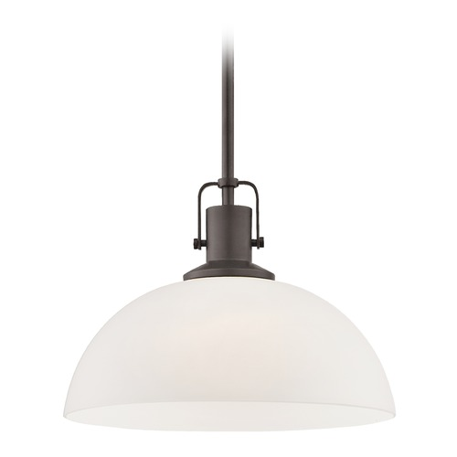Design Classics Lighting Nautical Pendant Light Bronze Finish 13-Inch Wide 1762-220 G1785-WH