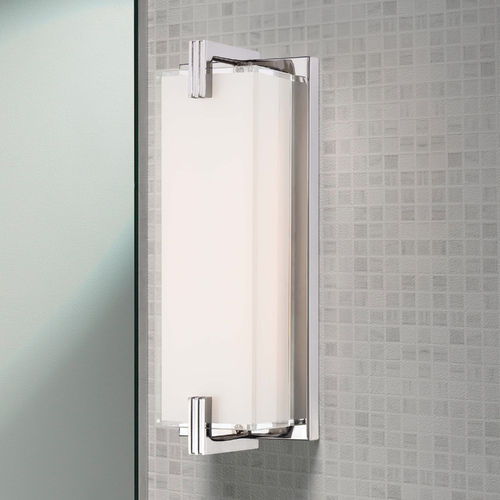 George Kovacs Lighting Cubism Chrome LED Bathroom Light - Vertical or Horizontal Mounting P5219-077-L