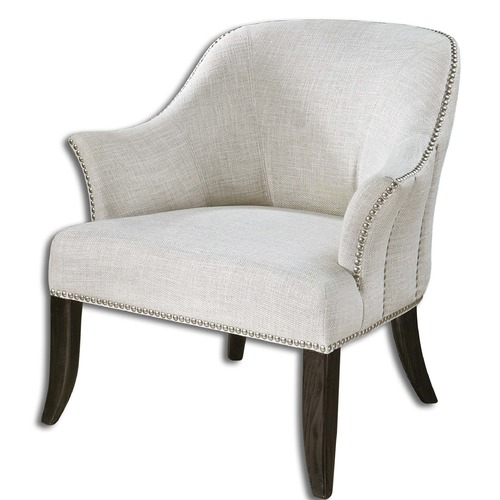 Uttermost Lighting Uttermost Leisa White Armchair 23114