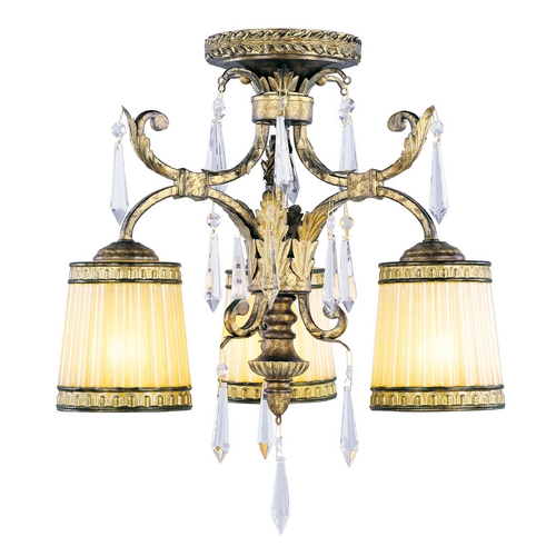Livex Lighting Livex Lighting La Bella Vintage Gold Leaf Semi-Flushmount Light 8804-65