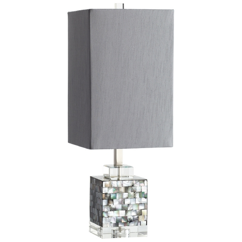 Cyan Design Cyan Design Johor Silver - Grey - Smoke Table Lamp with Rectangle Shade 05568