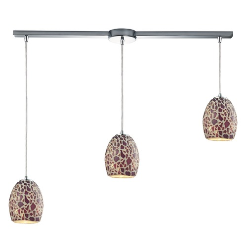 Elk Lighting Elk Lighting Orbital Polished Chrome Multi-Light Pendant with Bowl / Dome Shade 10429/3L