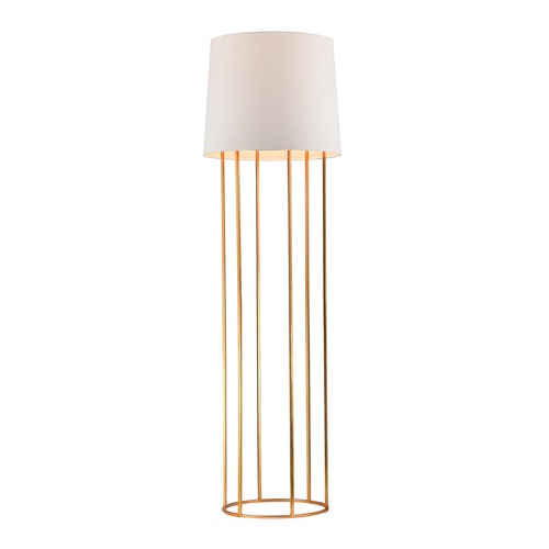 Dimond Lighting Dimond Lighting Gold Leaf Floor Lamp with Drum Shade D2591