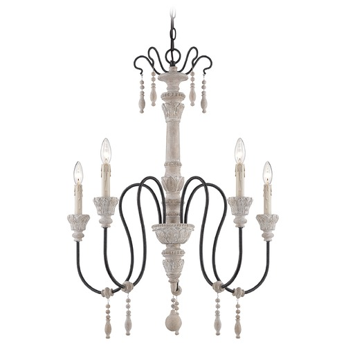 Savoy House Savoy House White Washed Driftwood Chandelier 1-290-5-23