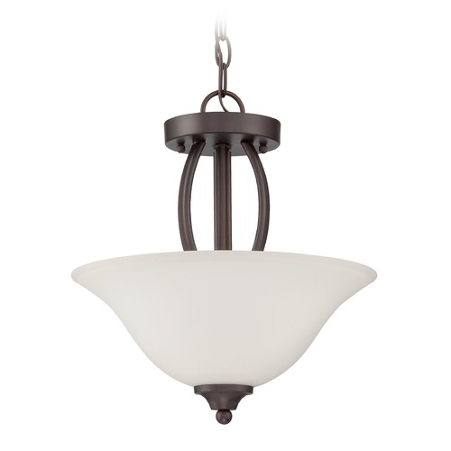 Jeremiah Lighting Jeremiah Lighting Northlake Aged Bronze Semi-Flushmount Light 38352-ABZ