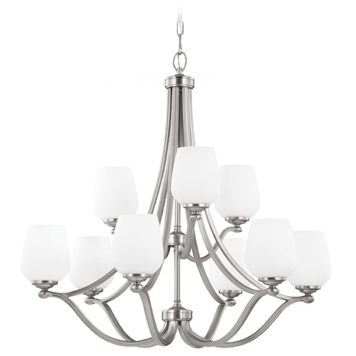 Feiss Lighting Feiss Lighting Vintner Satin Nickel Chandelier F2961/6+3SN