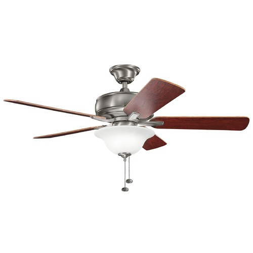 Kichler Lighting Kichler Lighting Terra Select Burnished Antique Pewter Ceiling Fan with Light 330248BAP