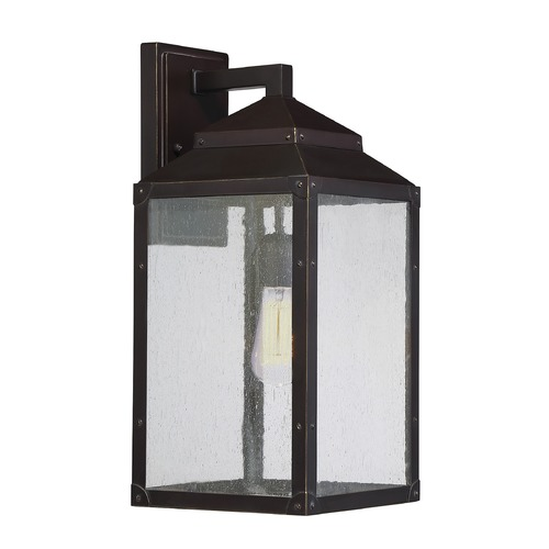 Savoy House Seeded Glass Outdoor Wall Light Bronze Savoy House 5-344-213