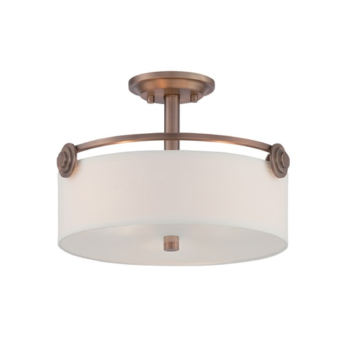 Designers Fountain Lighting Designers Fountain Gramercy Park Old Satin Brass Semi-Flushmount Light 87111-OSB