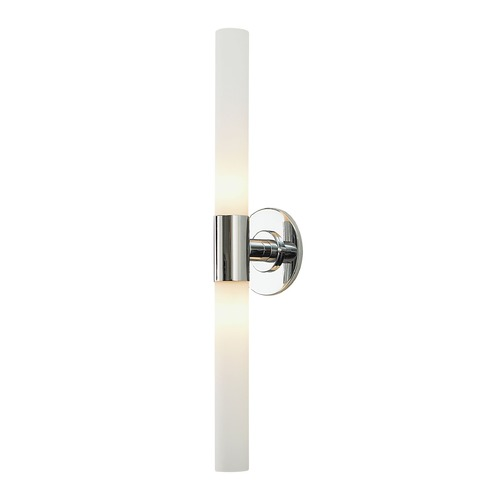 Long Vertical Wall Sconces : Alico Lighting Long Cylinder Chrome Vertical Bathroom Light BV821-10-15 Destination Lighting