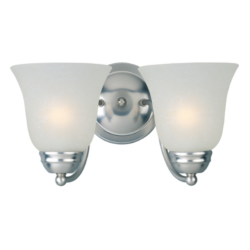Maxim Lighting Modern Bathroom Light with White Glass in Satin Nickel Finish 85132ICSN