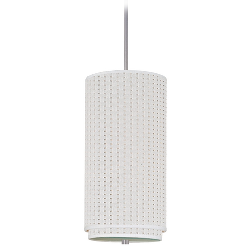 ET2 Lighting Modern Mini-Pendant Light with White Shade E95144-100SN