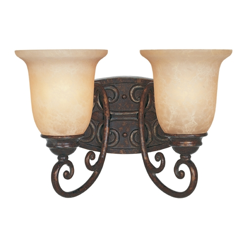 Designers Fountain Lighting Bathroom Light with Beige / Cream Glass in Burnt Umber Finish 97502-BU