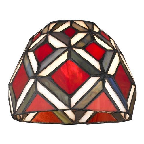 Design Classics Lighting Dome Tiffany Glass Shade - 1-5/8-inch fitter GL1035
