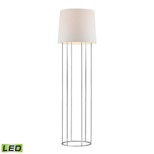 Dimond Lighting Dimond Lighting Chrome LED Floor Lamp with Drum Shade D2590-LED