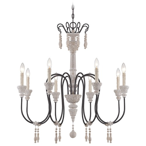Savoy House Savoy House White Washed Driftwood Chandelier 1-291-8-23