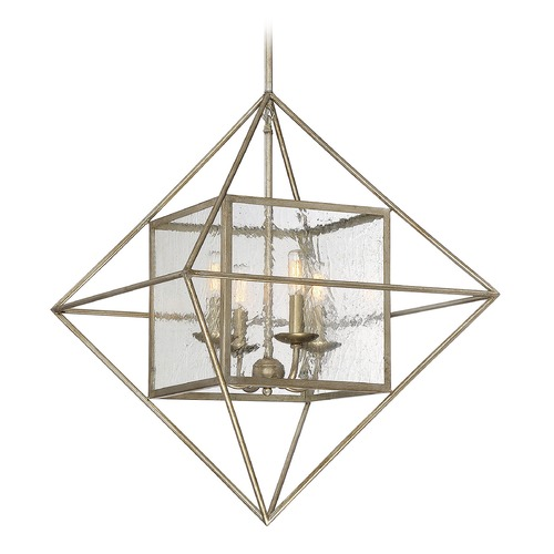 Savoy House Savoy House Lighting Captiva Argentum Pendant Light with Square Shade 1-489-4-211