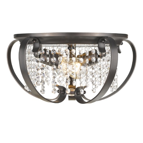 Golden Lighting Golden Lighting Ella Eb Brushed Etruscan Bronze Flushmount Light 1323-FM EBB