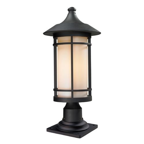 Z-Lite Z-Lite Woodland Black Post Light 527PHB-533PM-BK
