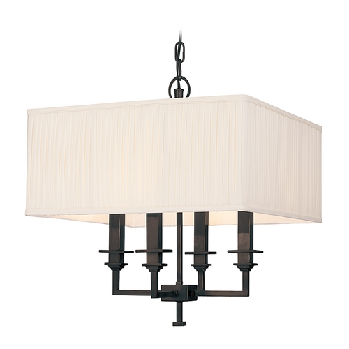 Hudson Valley Lighting Pendant Light with White Shades in Old Bronze Finish 244-OB