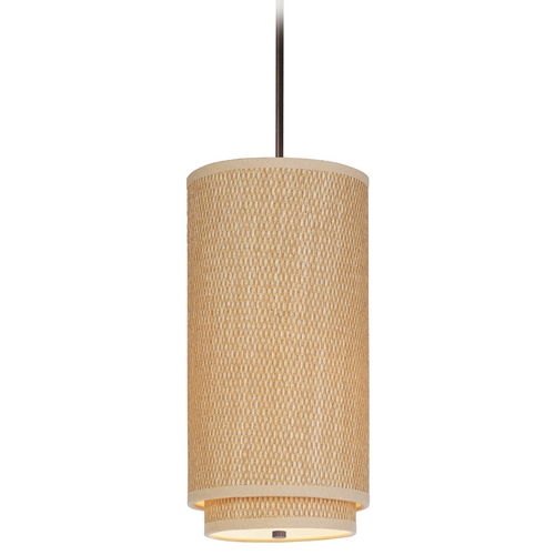 ET2 Lighting Modern Mini-Pendant Light with Brown Shade E95144-101OI