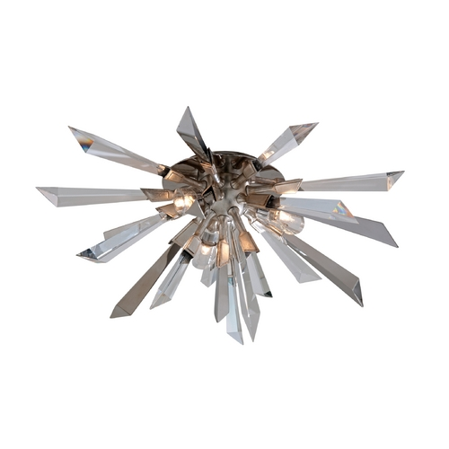 Corbett Lighting Corbett Lighting Inertia Silver Leaf Finish Flushmount Light 140-33