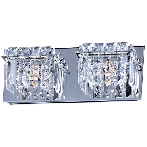 ET2 Lighting Modern Bathroom Light with Clear Glass in Polished Chrome Finish E23252-20PC