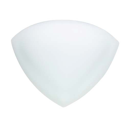Besa Lighting Modern Sconce Wall Light with White Glass 297107
