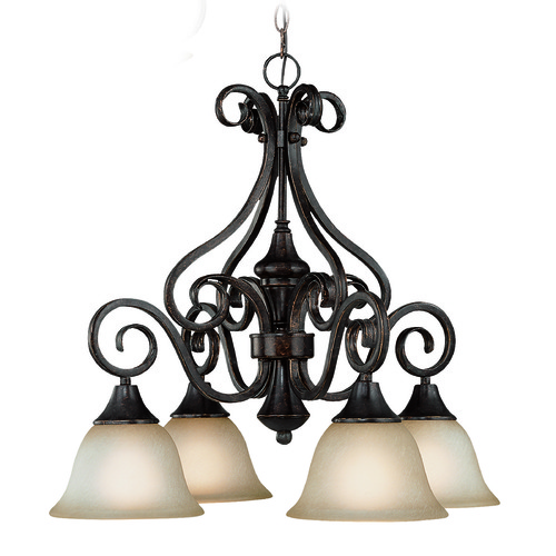 Jeremiah Lighting Jeremiah Torrey Burnished Armor Chandelier 24924-BA