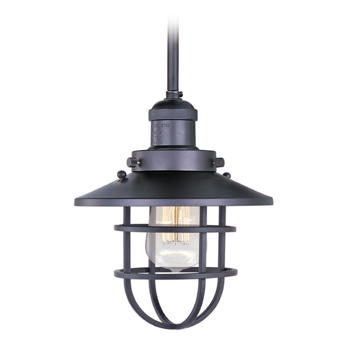 Maxim Lighting Maxim Lighting Mini Hi-Bay Bronze Mini-Pendant Light with Coolie Shade 25050BZ