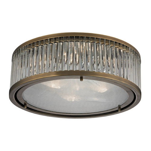 Elk Lighting Flushmount Light in Aged Brass Finish 46123/3