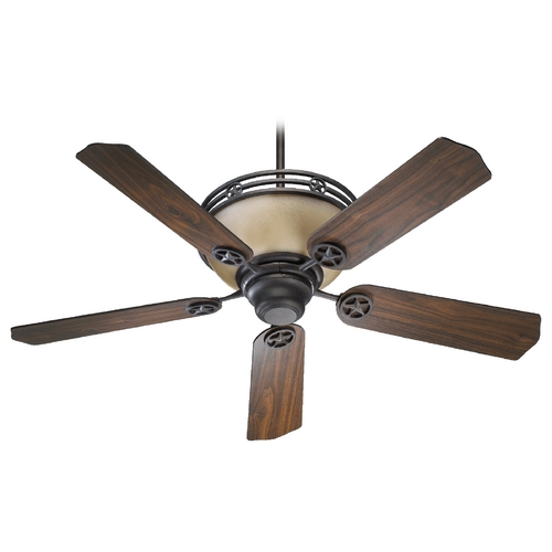 Quorum Lighting Quorum Lighting Lone Star Toasted Sienna Ceiling Fan with Light 80525-44
