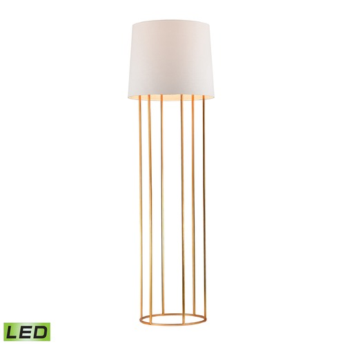 Dimond Lighting Dimond Lighting Gold Leaf LED Floor Lamp with Drum Shade D2591-LED
