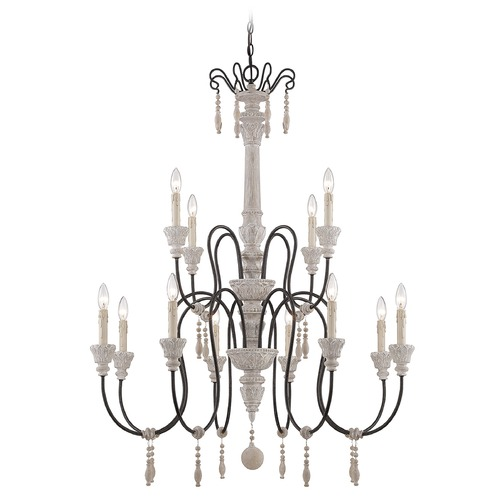 Savoy House Savoy House White Washed Driftwood Chandelier 1-292-12-23