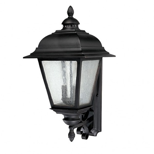 Capital Lighting Seeded Glass Outdoor Wall Light Black Capital Lighting 9963BK
