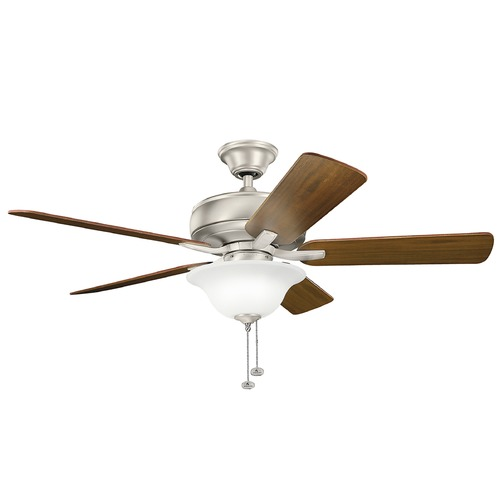 Kichler Lighting Kichler Lighting Terra Select Brushed Nickel Ceiling Fan with Light 330248NI