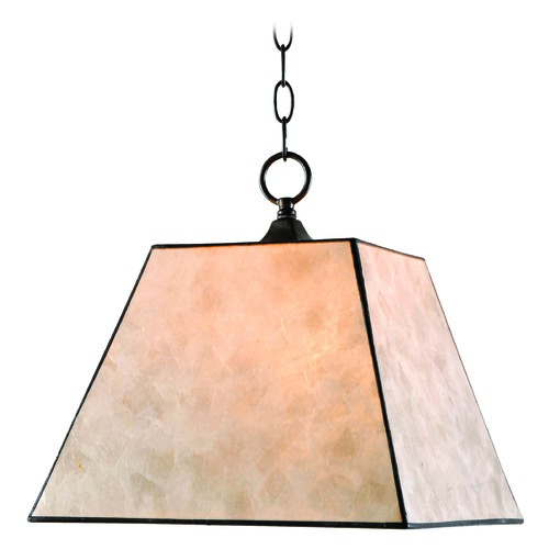 Kenroy Home Lighting Kenroy Home Capell Bronze Pendant Light with Square Shade 93635BRZ