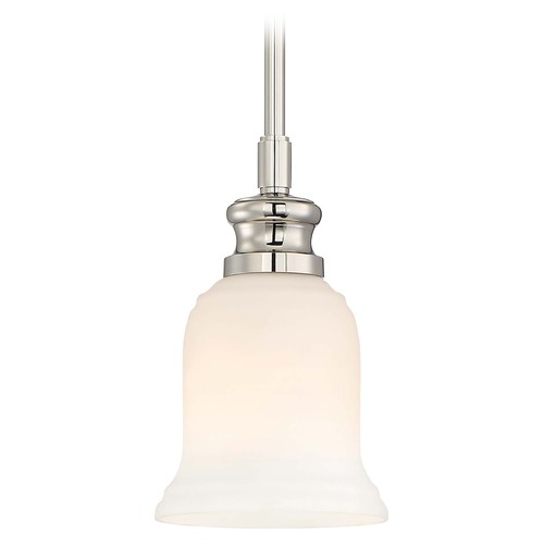 Minka Lavery Minka Audrey's Point Polished Nickel Mini-Pendant Light with Bell Shade 3290-613