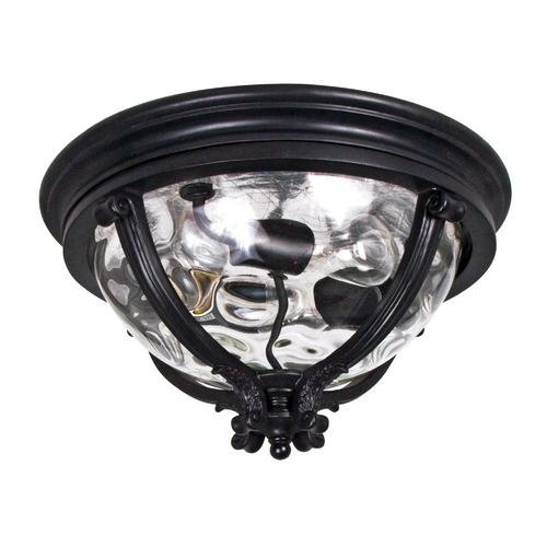 Maxim Lighting Close To Ceiling Light with Clear Glass in Black Finish 41420WGBK